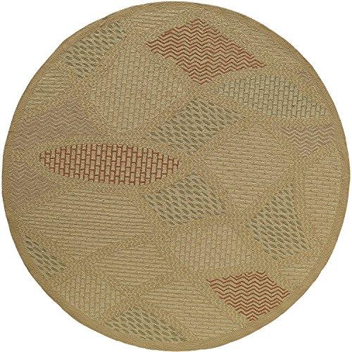 Momeni Rugs VERANVR-12SND900R Veranda Collection, Contemporary Indoor & Outdoor Area Rug, Easy to Clean, UV protected & Fade Resistant, 9' Round, Sand Momeni Veranda Beige Rug