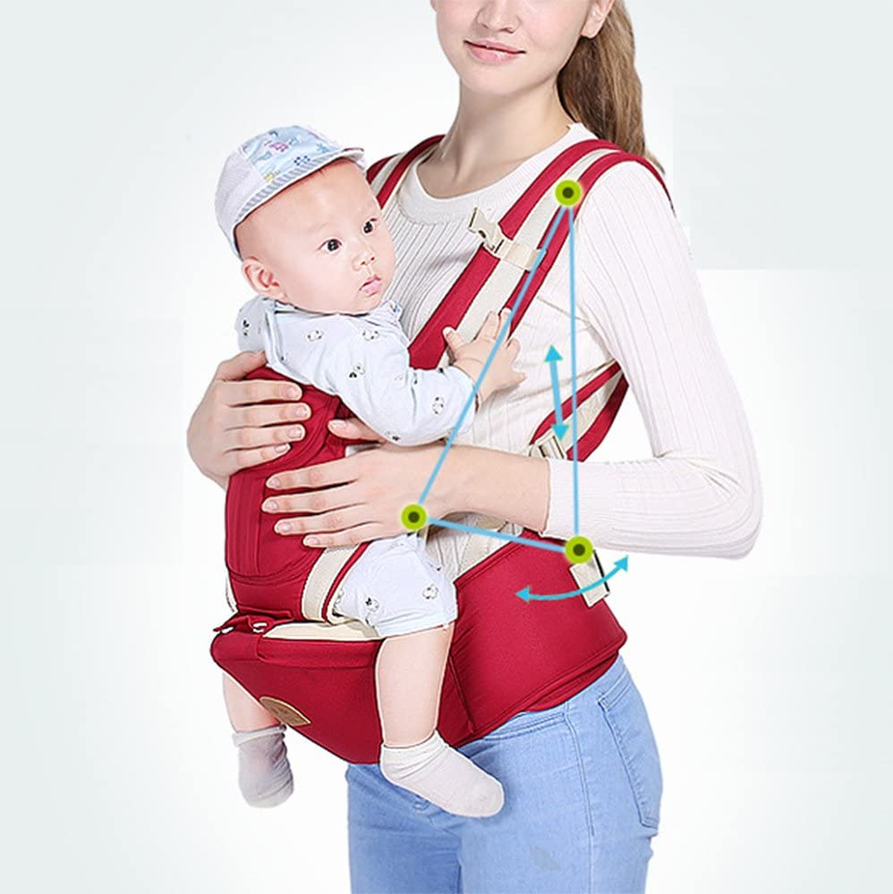 Multifunctional Baby Waist Stool 6 in 1 Baby Carrier Detachable Hip Joint Wide Shoulder Strap Easy and Effort