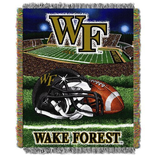 (Northwest COL 051 HFA Wake Forest Woven Tapestry Throw Blanket)