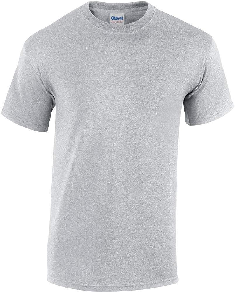 Gildan Mens Heavy Cotton Short Sleeve T-Shirt (5XL) (Sport Grey)
