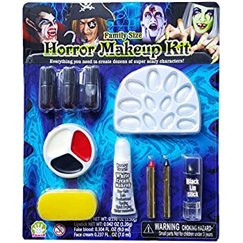 Amazon.com: UNOMOR Halloween Makeup Kit with Fake Blood and Glow ...