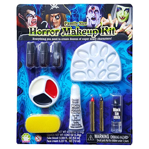 [Tokia Halloween Horror Makeup Kits for Sensitive Skin - Family Size] (Costume Makeup Wax)
