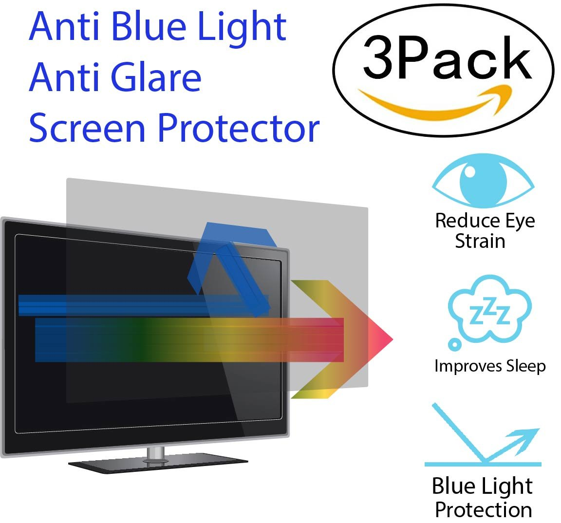 Premium Anti Blue Light and Anti Glare Screen Protector for 27 Inches Laptop with Aspect Ratio 16:09