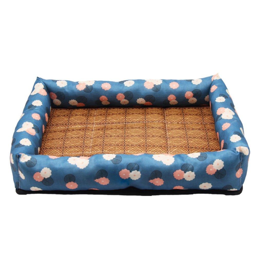 A L-5647CM A L-5647CM GXY Kennel Summer Cool Mat Dog Summer Dog Bed Pet Small Medium Dog Cat Cat Cat Full Set Pet Waterloo (color   A, Size   L-56  47CM)