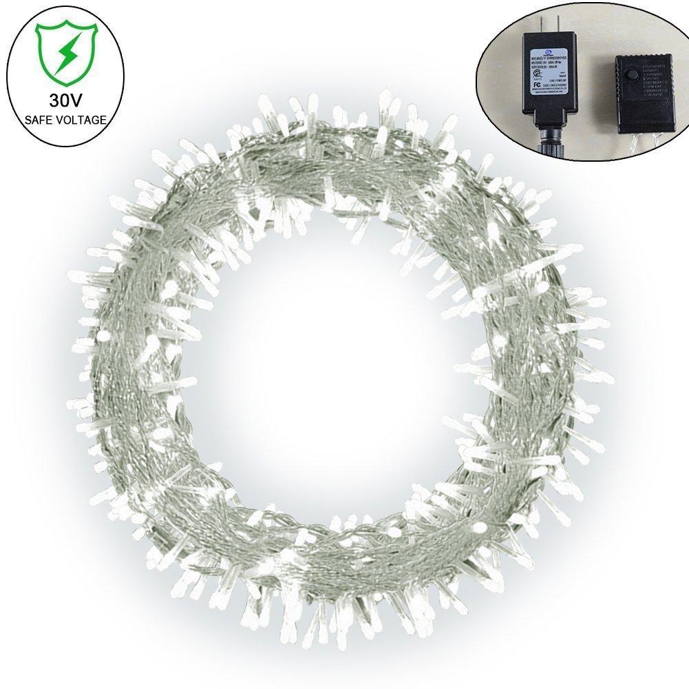 Uchargeソーラーフェアリーライト屋外装飾ライトクリスマスツリーライト文字列 ホワイト UchargeL31-2 ホワイト ホワイト B072M9SYHJ