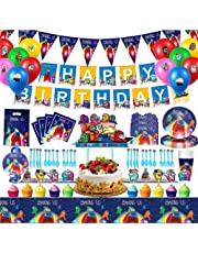 SFM 134PCS Among Us Party Supplies Birthday Party Decorations Set,Including Among Us Table cover, Tableware, Gift Bag, Balloons, Among Us Birthday Decorations for Among Us Kids Birthday Party Favor