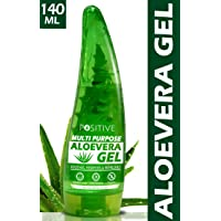 POSITIVE Multipurpose Pure Aloe vera Gel for Skin & Hair | Moisturise, Soothes & Hydrates | 140 mL