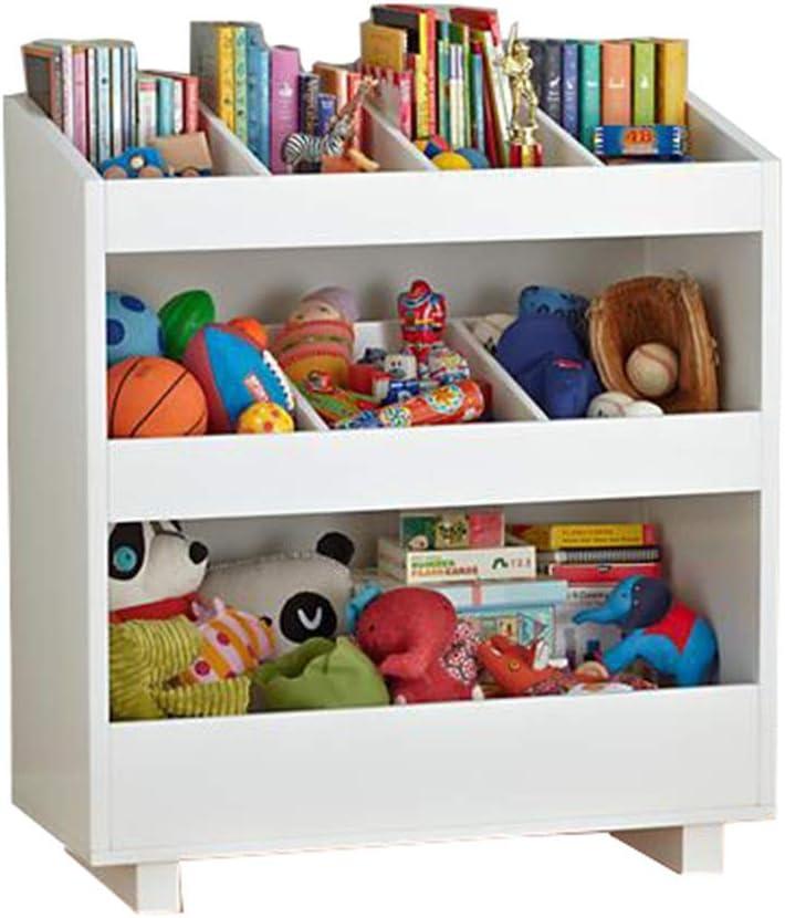 本の陳列台 子供のおもちゃの収納子供のおもちゃの棚パーフェクトおもちゃのストレージソリューション 大量の文庫本を保管できます (色 : 白, サイズ : 92x100x35cm)