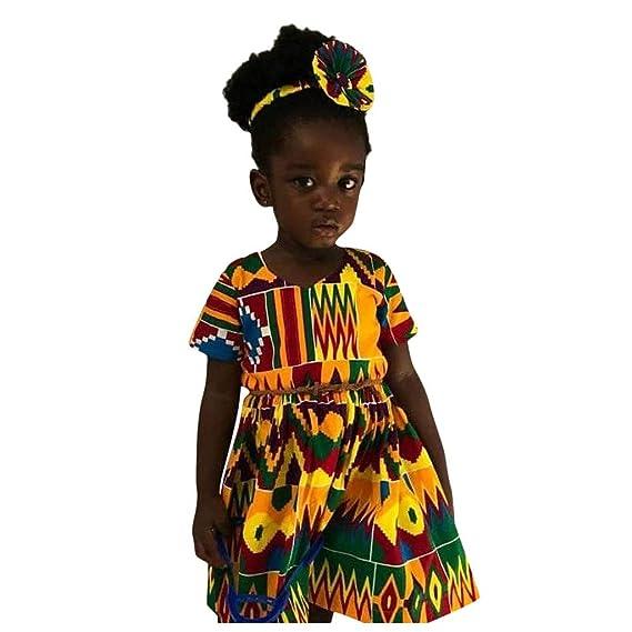 K-Youth Vestido Bebe Niña Navidad África Estilo Nacional Bohemia ...