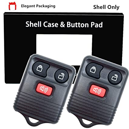 2 Car Fob Shell Case Pad For 2001 2002 2003 2004 2005 Ford Explorer Sport Trac