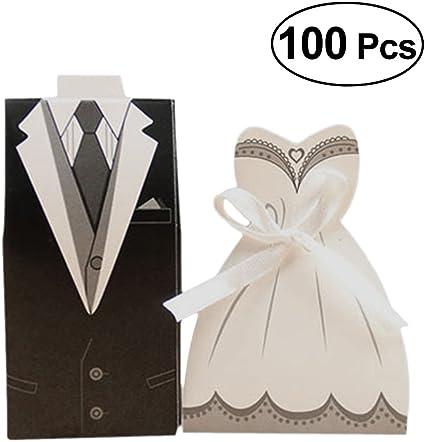 Amazon Com Luoem 100 Pcs Wedding Candy Boxes Wedding Favors