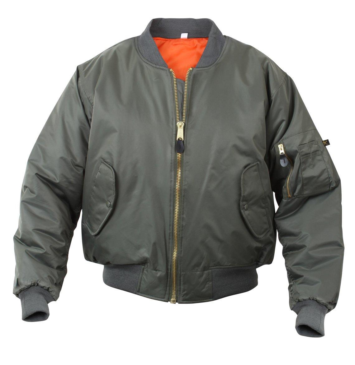 Rothco %Rothco Ma-1 Flight Jacket-Sage, Large