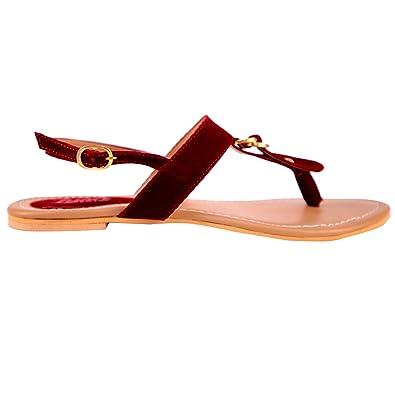 9e3f3f341d022 Lush Women's Fashion Sandals for Women|Flats for Women|Flat Sandals for  Girls|Casual Flats Footwear