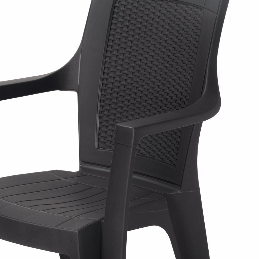 Nilkamal plastic chair - Nilkamal Mystique Chair Set Of 2 Charcoal Grey Amazon In Home Kitchen