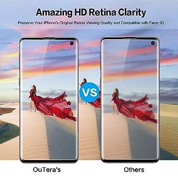 OuTera Verre Trempé Samsung Galaxy S10, Protection écran Film Protecteur pour Samsung Galaxy S10