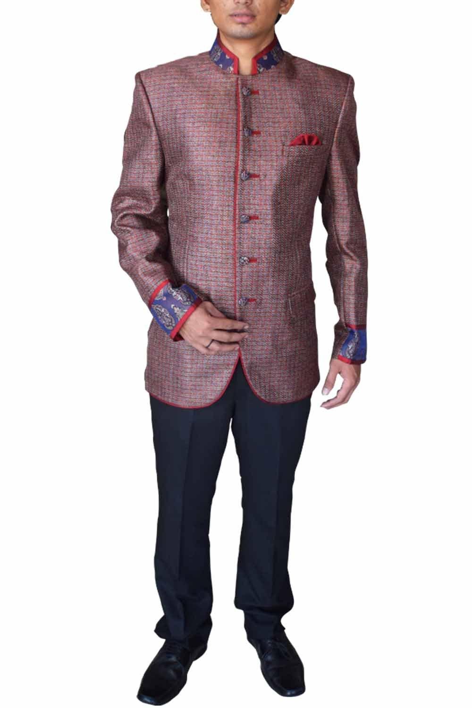 INMONARCH Mens Wedding look Nehru Jacket NJ4423 brown