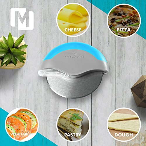 Premium Pizza Cutter Wheel Stainless Steel, Easy to clean, Razor Sharp with Protective Blade Guard from Mozzbi by Mozzbi (Image #8)