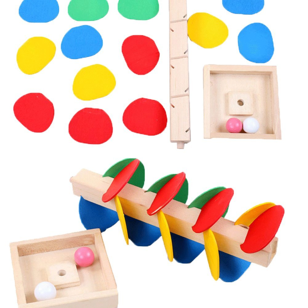Educational Toy Blocks Wooden Tree Marble Ball Run Track Game Baby Kids Children Intelligence Wooden Baby Toys by General (Image #3)