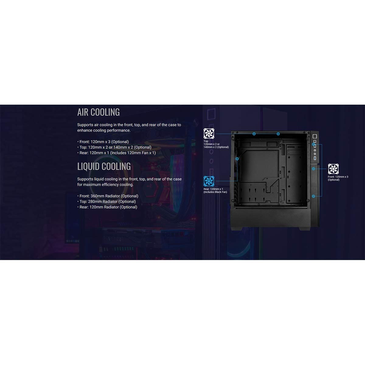 Amazon.com: Aerocool Playa - Caja PC, ATX, panel acrílico ...