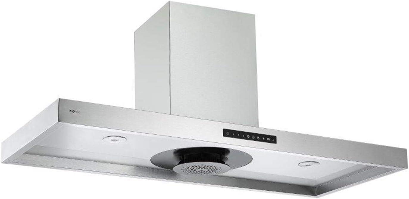 Invvitec - Campana extractora de aire (acero inoxidable, 120 cm de ancho, sistema Touch Eco-Jet): Amazon.es: Grandes electrodomésticos