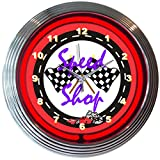Neonetics Cars and Motorcycles Speed Shop Neon Wall Clock, 15-Inch Review