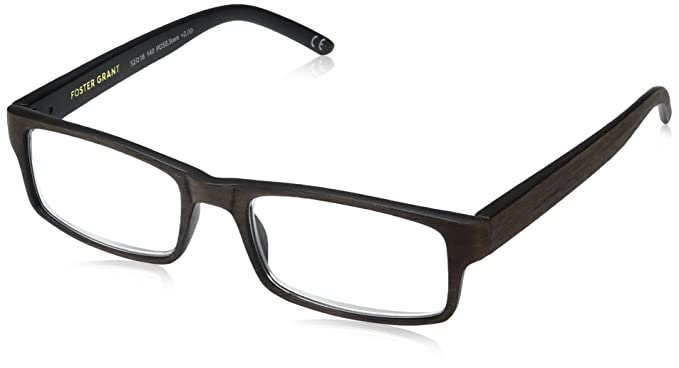 87414c8fc8 Foster Grant Men s Aiden Brown 1017891-150.COM Rectangular Reading Glasses
