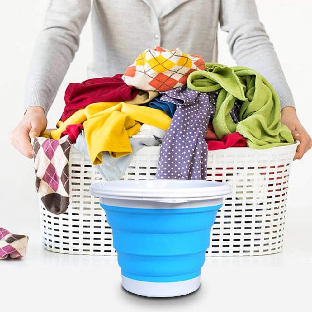 Folding Turbo Washing Compact Ultrasonic Turbine Washer Lightweight Travel Laundry Washer USB Powered Camping Apartments Dorms 【Upgraded version】10L Portable Mini Washing Machine