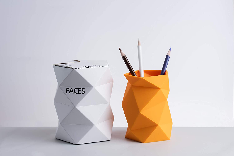 Silicone Pen Holder,ConsWin Creative Design Soft Silicone Pen/Pencil Cup Desk Organizer for Home and Office Supplies (Orange)