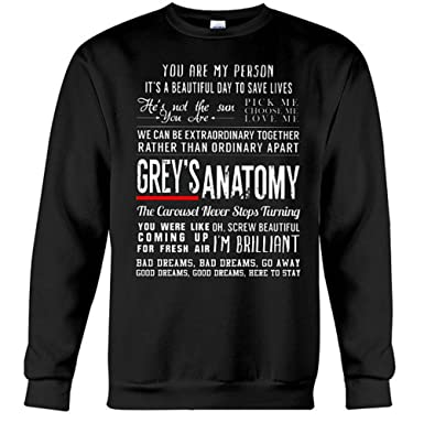 fa10833329b Greys Anatomy Quotes Sweatshirt - Grey's Shirt Merchandise Gifts For Fans - Youre  My Person (