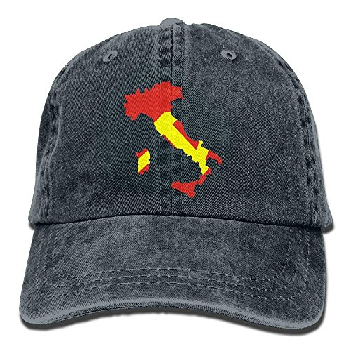 Men Hat Cowgirl DEFFWB Cap for Cowboy Map Italy Hats Sport Flag Skull Women Denim 7TAqRTU