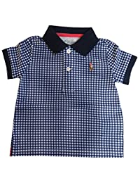 Ralph Lauren Polo Infant Boys Short Sleeve Gingham Shirt Navy