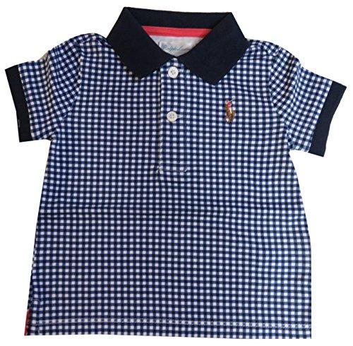 Polo Ralph Lauren Infant Boys Short Sleeve Gingham Shirt Navy, 6 Months