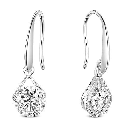 f0791dded2751 SHEGRACE Wedding Earrings for Bridesmaids, Rose Gold/Gold Plated Hook  Earrings, Oval Dangle Earring Drop Earrings