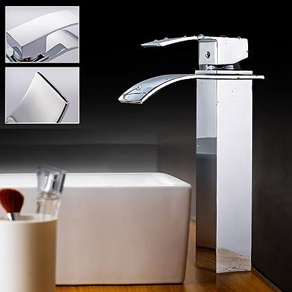 Auralum®Grifería de cocina Grifo Cromo lavabo del bano con Manguera ...