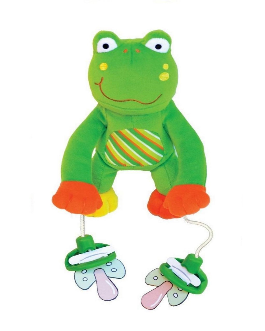 The Original PullyPalz Pacifier Holder ''As Seen on Shark Tank!'' Puddles the Frog