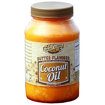 Aceite de coco con sabor a manteca Golden Barrel: Amazon.com ...