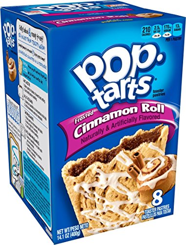 Pop-Tarts Breakfast Toaster Pastries, Frosted Cinnamon Roll Flavored, 14.1 oz, 8 count(Pack of (Frosted Cinnamon Roll)