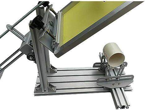Manual Cylinder Silk Screen Printer Double Guide Rail Screen ...