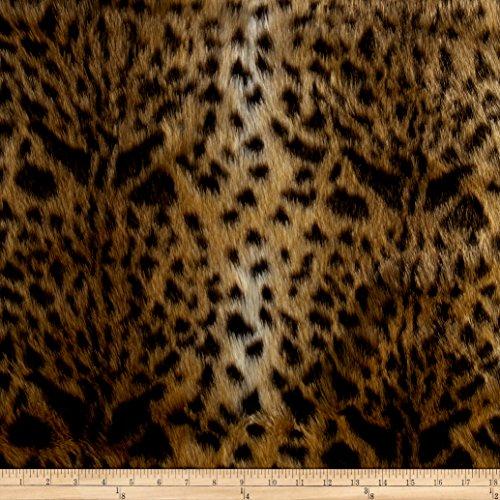 Shannon Luxury Faux Fur Leopard Gold (Print Throw Fur Faux)