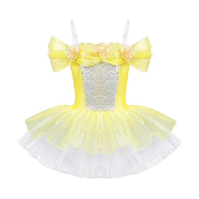 Alvivi Vestido Baile de Ballet Niña Traje Maillot Danza de ...