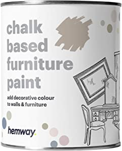 Hemway Latte Chalk Based Furniture Paint Matt Finish Wall and Upcycle DIY Home Improvement 1L / 35oz Shabby Chic Vintage Chalky (50+ Colours Available)