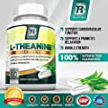 Top Rated L-Theanine - 60 Count 200mg Veggie Capsules - By BRI Nutrition
