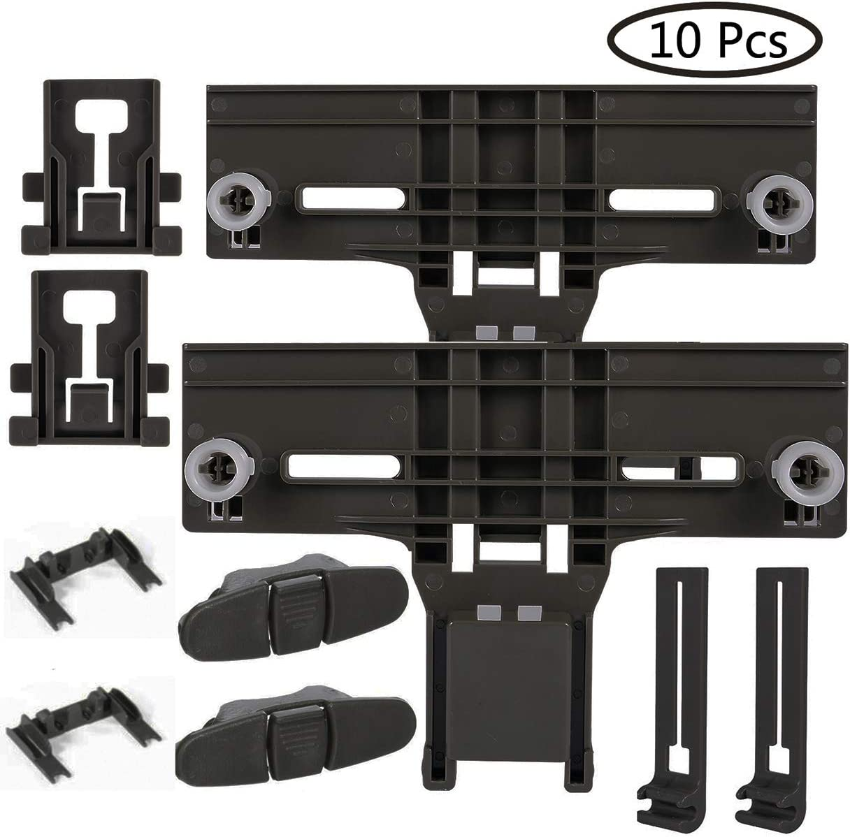 Cykemo W10350376 Dishwasher Top Rack Adjuster W10195840 & W10195839 &W10250160&W10508950 Replacement Kit for Whirlpool Kenmore,High Durable
