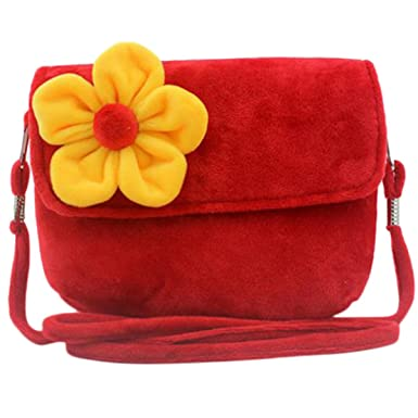 b614f412f Hydaa Little Girls Handbag Princess Shoulder Bag Fuzzy Floral Cute Purse for  Toddlers Preschoolers (Red): Amazon.co.uk: Clothing