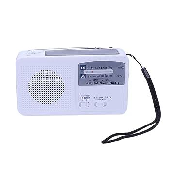 XZANTE Radio de Dínamo de Manivela de Mano Led Linterna USB ...