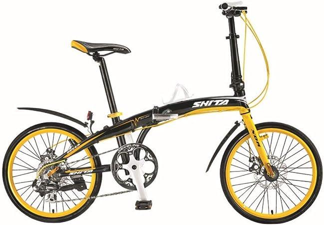 Las bicicletas plegables bicicletas for niños cambio de marchas bicicleta plegable de aluminio de la bici Niños Moda Sport de 20 pulgadas yqaae: Amazon.es: Hogar