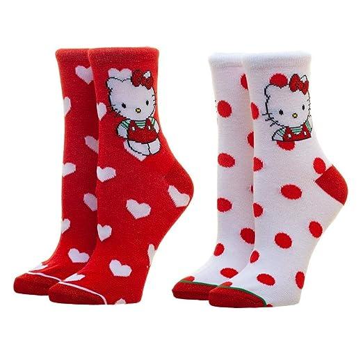 f034fa5e0 Amazon.com: Hello Kitty Crew Socks Hello Kitty Accessories Hello ...
