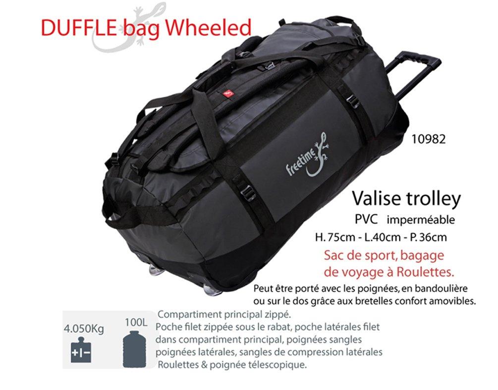 meilleur service d1f78 741d8 Freetime-Valise Trolley 100 L - Sac de Voyage à roulettes - Duffel Bag  Wheeled
