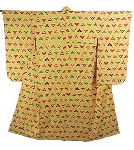 スポーツの試合を担当している人最後にレオナルドダリサイクル 着物 小紋 正絹 袷 花模様 裄65cm 身丈141cm