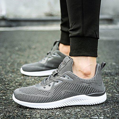 No.66 City Womens Mens Free Leggere Scarpe Da Corsa Piatte Flyknit Paio Sneakers Grigie